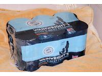 Wainwright's 6 Tins Dog Food, Cereal Free Hypoallergenic Salmon with Potato, bb April 2018, Histon