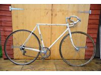 Raleigh Road Frame, forks, wheel, handlebars, stem... Classic Steel Frame. Great Renovation Project
