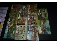 18 Giles Cartoon Books/Annuals Excellent condition. From the 1960's to the 1990's.