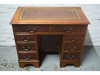 Leather topped desk (DELIVERY AVAILABLE)