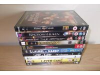 10 DVD' S Including King Arthur, Lord of the Rings And Layer Cake