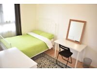 ** Lovely Double Room ** / Bow, Bromley-By-Bow, Zone 2 / Available Now!!