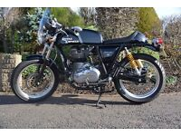 Exceptional Royal Enfield Continental GT in beautiful Black. 4050 Miles. Service history