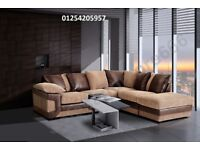 ** 1 YEAR WARRANTY ** BRAND NEW DINO JUMBO CORD CORNER SOFA ON SPECIAL OFFER