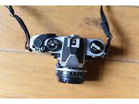Nikon SLR FM2 camera and F1.8 50mm lens