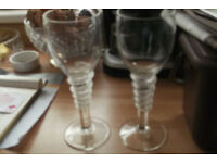 Designer wine glasses ( hand made)