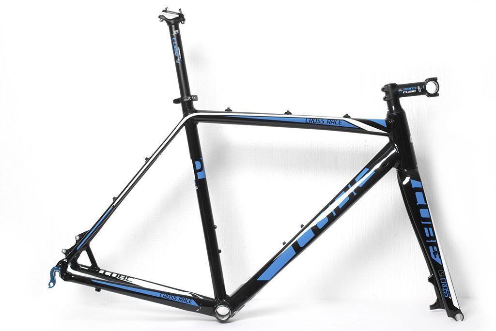 Cube Cross Race Disc 2014 CycloCross Frame Set - Blue/Black - 56cm ...
