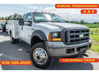 2006 Ford F550 Super Duty XL Used 4wd utility extended cab manual trans 1 owner