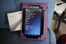 """Acer 7"""" tablet including case"""