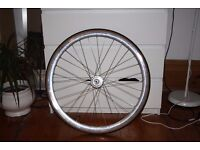brand new rear track wheel with tyre 18t freewheel and 18t cog