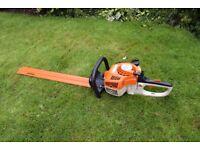 stihl hs 45 petrol 2 stroke long reach hedge trimmer