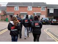 Roaming Door to Door Fundraising £252-306 basic p/w + bonuses - no experience necessary
