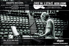 Drew Lowe Guitar Tuition Hampshire based! Credits Include: Inglorious, We Will Rock You, Boy George
