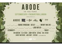 3 Abode festival tickets @finsbury park on Sunday the 24th of September.