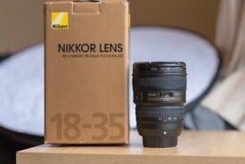 Nikon 18-35mm G FX Lens