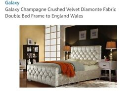 Double crushed velvet bed.