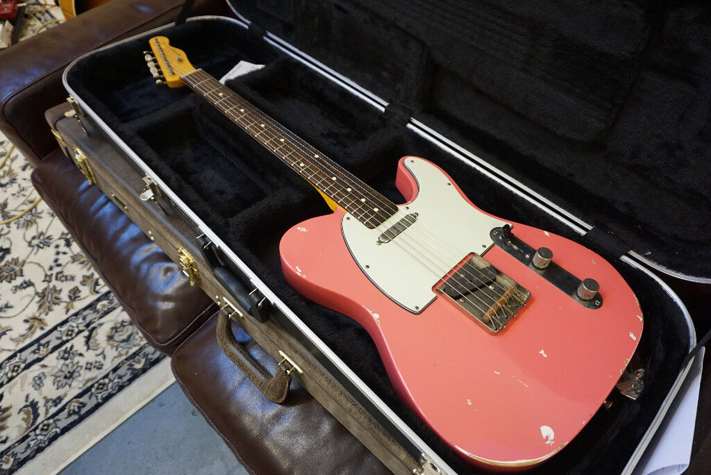 Bill Nash T 63 Faded Fiesta Red Relic Tele Boutique Telecaster With Lollar Pickups