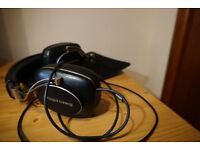 Bowers & Wilkins P7 Wired Headband Headphones - Black Leather and Chrome