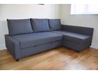 Corner Sofa/bed with storage grey IKEA FRIHETEN for sale