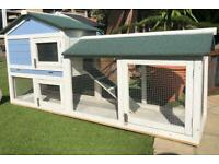 6ft long rabbit/Guinea pig hutch with run