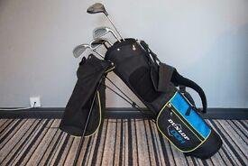 Junior golf clubs in Dunlop bag