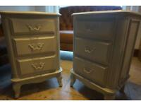 Laura Ashley provencale 2 x side tables bedside tables