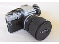 Olympus OM10 35mm camera (not digital) plus equipment