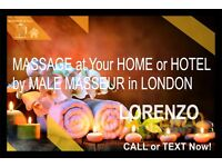Full body MASSAGE by MALE Masseur to Your HOTEL/HOME in LONDON (OUT-CALL ONLY)