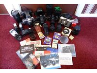 Cameras, Lenses, Filters and accessories