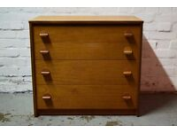 Stag Chest Of Four Drawers (DELIVERY AVAILABLE)