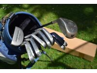 Mizuno T Zoid Oversize XV Set of 11 Golf Clubs - Graphite Shaft and Mizuno Golf Bag