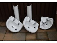 Twyfords Bathroom sinks and pedestals