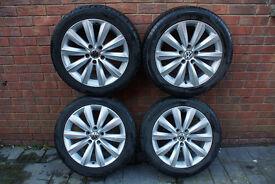 """17"""" VW 10-spoke Alloys With Tyres - VGC"""