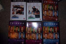Friends DVDs, season 1 and season 10