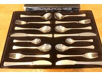 Fine Stainless Steel Cutlery 44 Piece See photo for full list of items