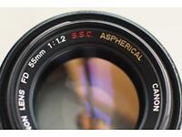 50mm F1.2 (ultra fast pro prime lenses) Canon L, SSC Aspherical, Minolta Rokkor, Pentax Asahi ...