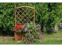 Large flower-box with trellis