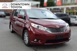 2014 Toyota Sienna XLE, LEATHER, SUNROOF, ALLOYS, 1 OWNER