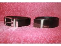 Gent's Belts, CK and DKNY, black.