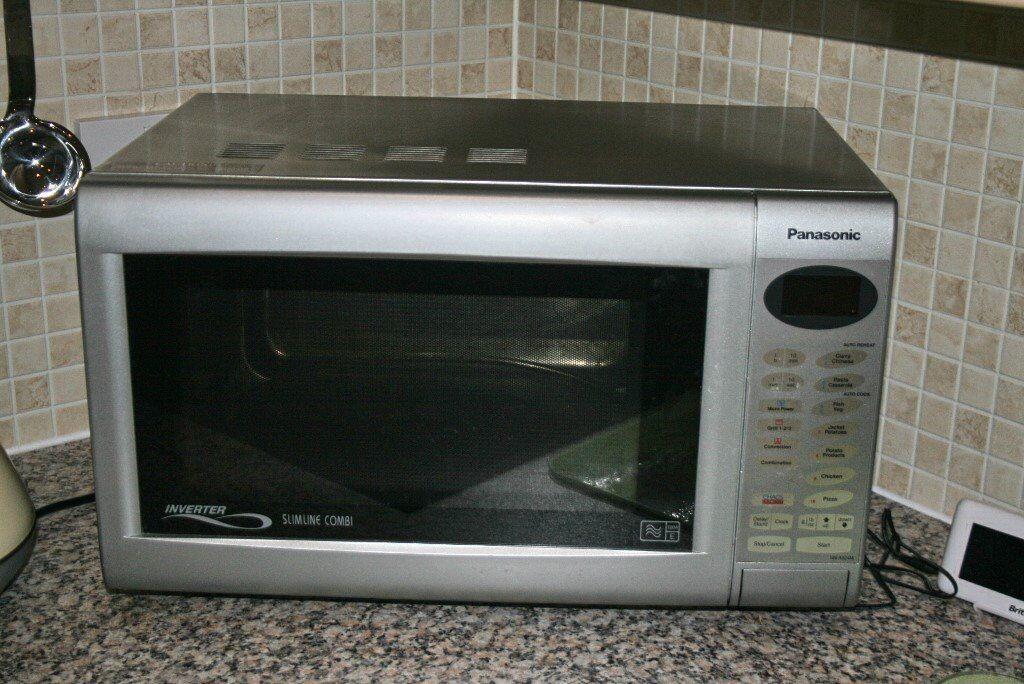Panasonic Inverter Slimline Combination Microwave Oven Model Nna524m Collect From Sheringham