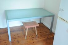 Designer glass top dinning table Woollahra Eastern Suburbs Preview