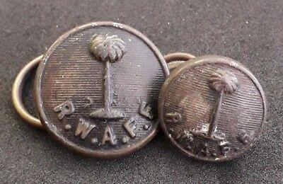WWII Era Royal West African Frontier Force RWAFF Bakelite Buttons 22mm & 17mm, usado segunda mano  Embacar hacia Argentina