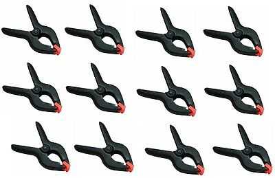 12 Pack Spring - 12 Pack - 6 Inch Spring Clamps Large Heavy Duty Plastic Muslin Clamps