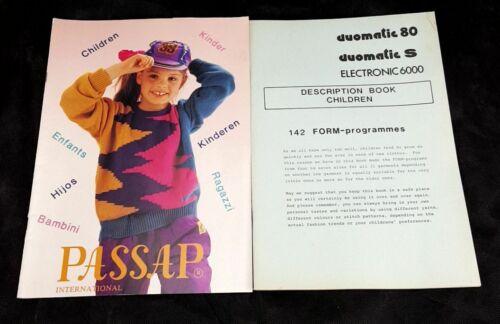 Passap International Duomatic 80+S Model Book Patterns Children
