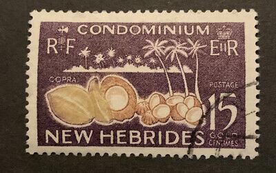 1963 New Hebrides British 15c Bistre Brown Violet FU Stamp SG100
