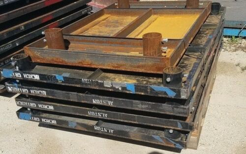 """Approximately 66"""" x 42"""" x 40"""" Portable Steel Welding table on 8"""" Locking Castors"""