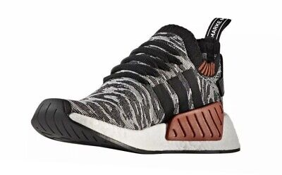 ac6fbceae New adidas Men s Sneakers Size 12 NMD R2 PK W Box BY9409 Primeknit  Gray Black
