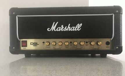 MARSHALL DSL 15H: 15 WATT 2 CHANNEL AMP VALVE HEAD AS NEW CONDITION.