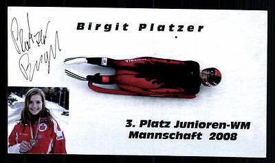 Birgit Platzer Autogrammkarte Original Signiert Rodeln + A 97634