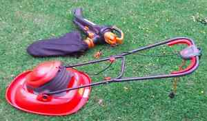 Flymo Electric Lawn Mower + WORKS Blower Vac Vale Park Walkerville Area Preview